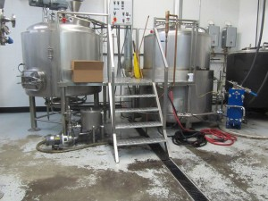 Occidental Brewing mash tun and kettle